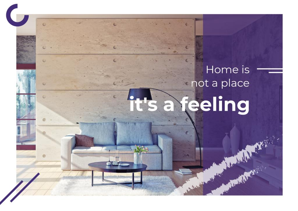 Real Estate Ad with Cozy Interior in Light Colours — Создать дизайн