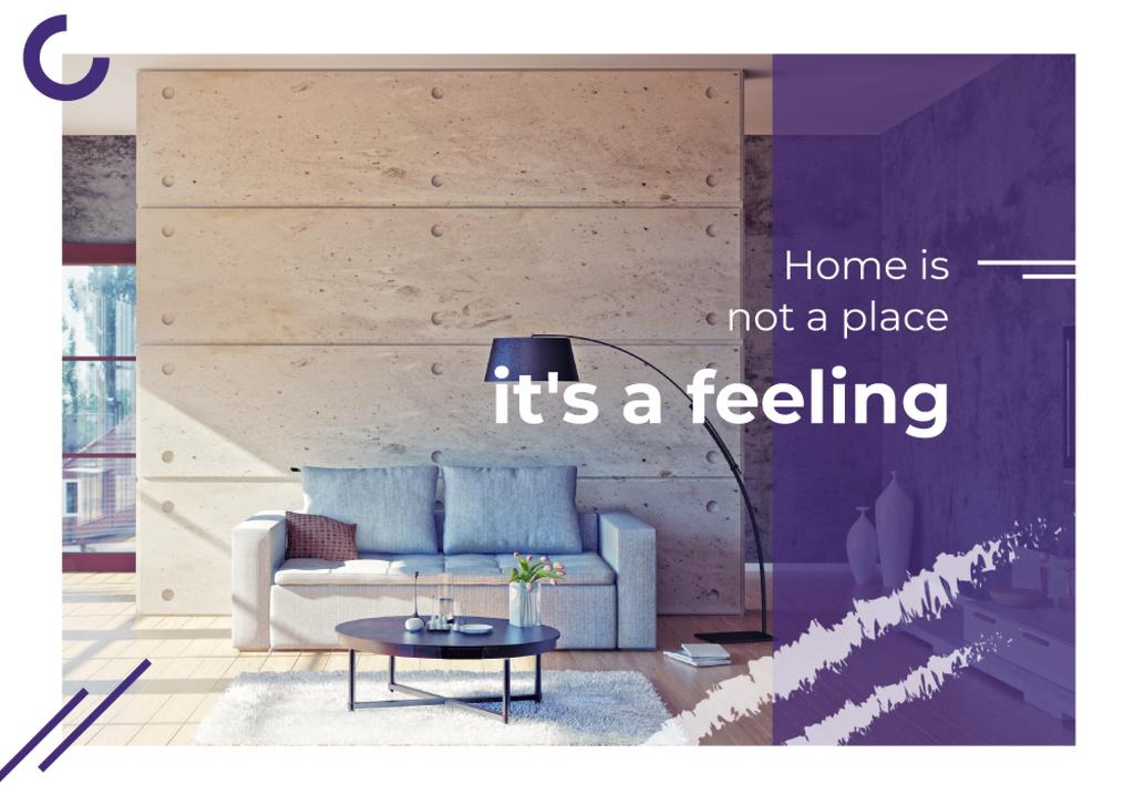 Real Estate Ad with Cozy Interior in Light Colours — Créer un visuel