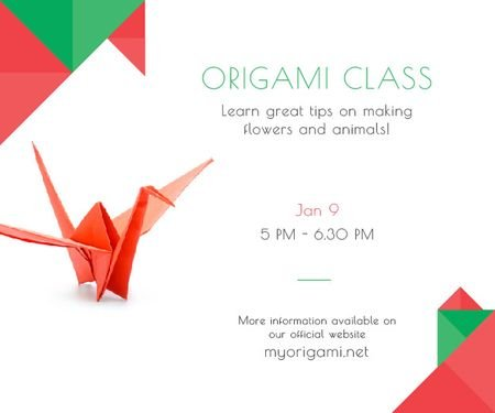 Plantilla de diseño de Origami class poster Medium Rectangle