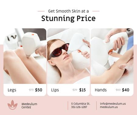 Template di design Salon promotion Woman at Laser Hair Removal Facebook