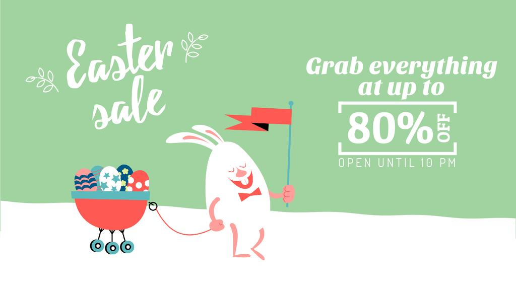 Easter Sale Bunny with Colored Eggs | Full Hd Video Template — Crea un design