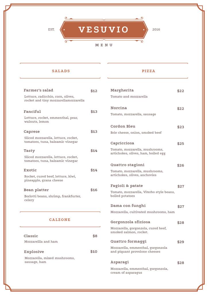 Italian Restaurant dishes — Crear un diseño