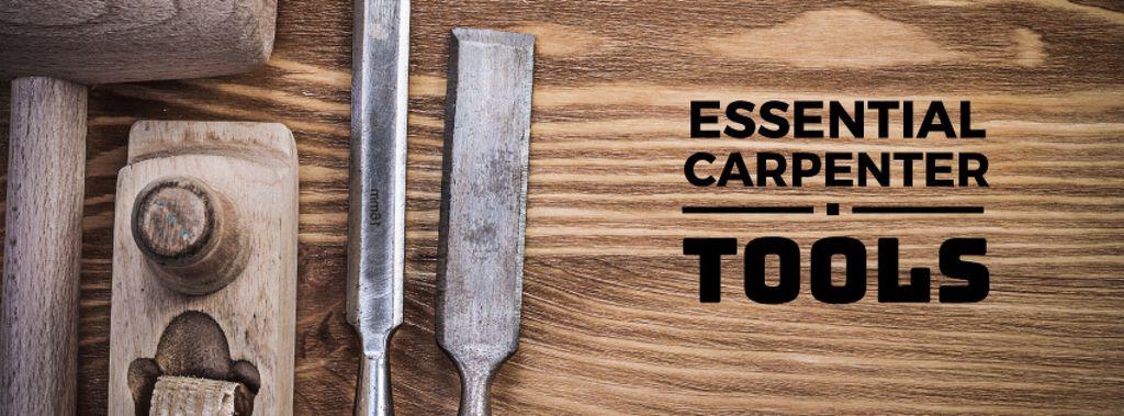 essential carpenter tools poster — Crea un design