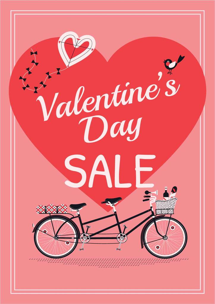 Valentine's day sale with Romantic bike — Створити дизайн