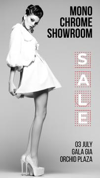 Fashion Sale Girl Wearing White Clothes