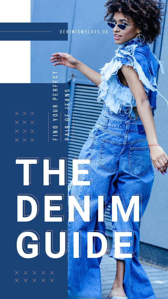 Woman wearing denim clothes — Créer un visuel