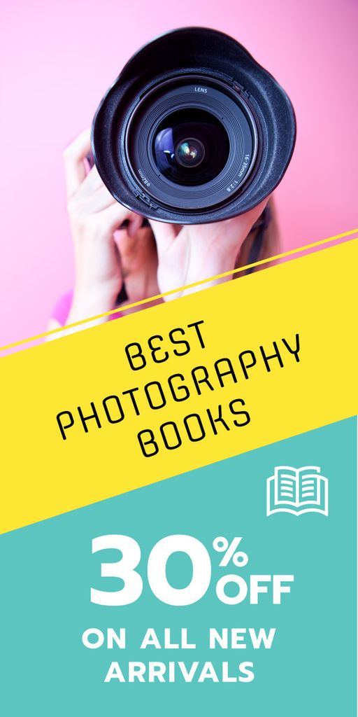 Photography books sale advertisement — Créer un visuel