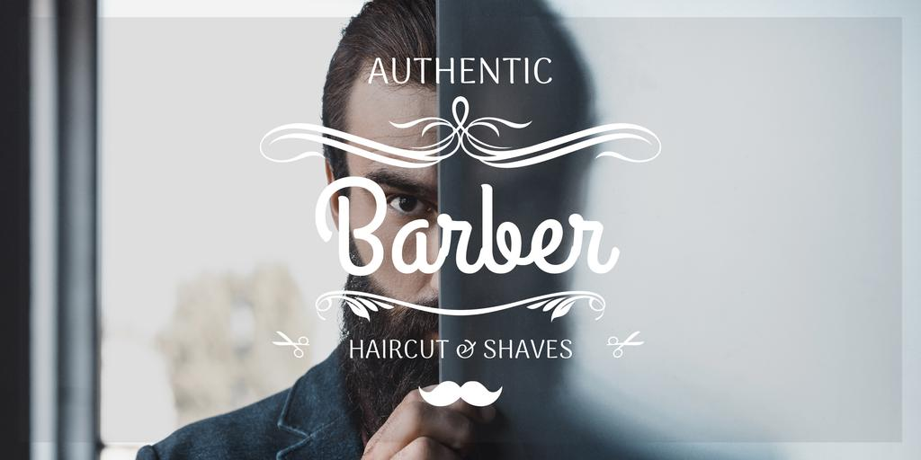 advertisement poster for barbershop —デザインを作成する