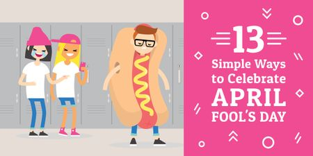 Designvorlage 13 simple ways to celebrate April Fools Day für Image