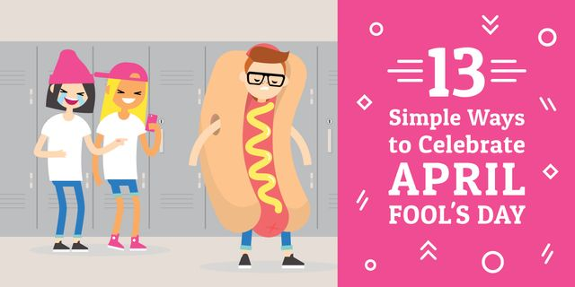 13 simple ways to celebrate April Fools Day Image Design Template