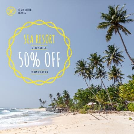 Plantilla de diseño de Vacation Tour Offer Palms at Seacoast Instagram AD