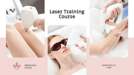 Salon promotion Woman at Laser Hair Removal FB event cover – шаблон для дизайна