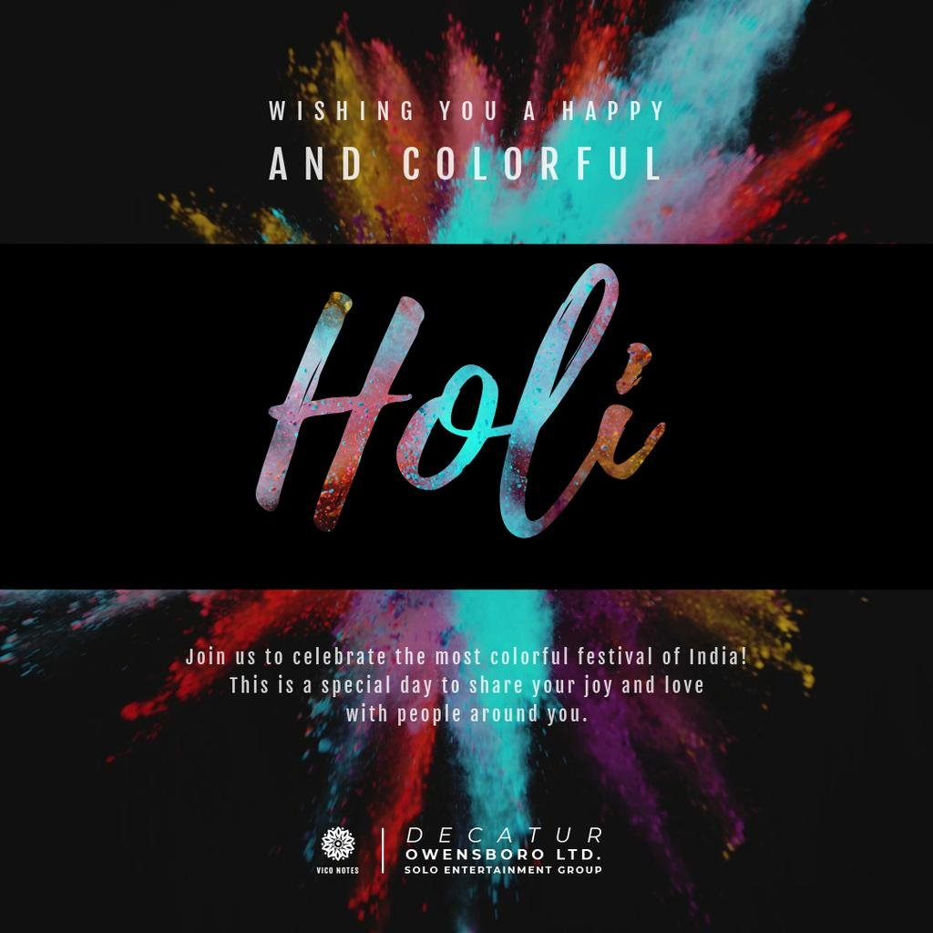 Indian Holi festival celebration — ein Design erstellen
