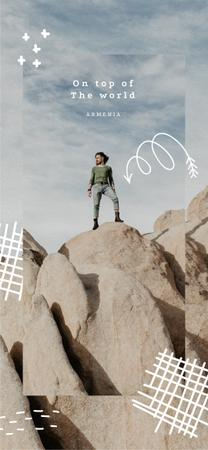 Outdoor Trip Inspiration Traveler on Cliff Snapchat Geofilter Modelo de Design
