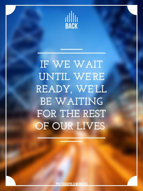 Motivational Quote on Night City Lights Poster US – шаблон для дизайну