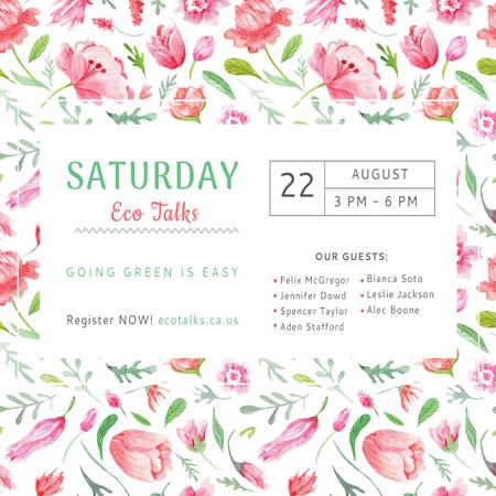 Saturday eco talks Invitation Instagram Modelo de Design