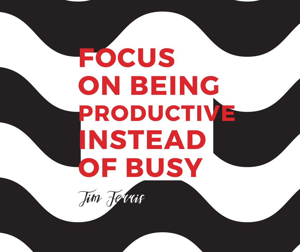 Productivity Quote on Waves in Black and White — Modelo de projeto