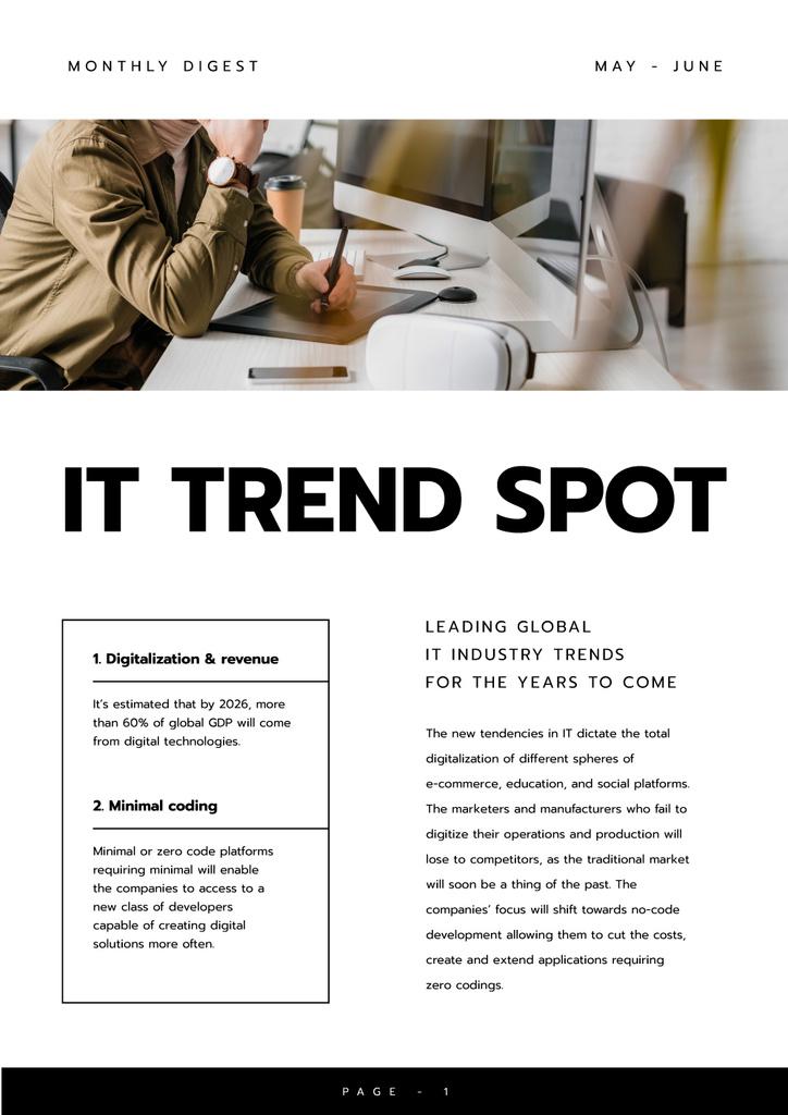 Leading Global IT industry Trends — Créer un visuel