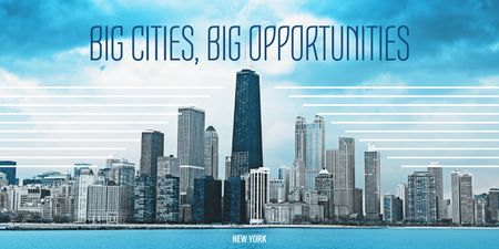 Plantilla de diseño de Big city opportunities Twitter