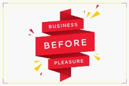 Business before pleasure Gift Certificate Modelo de Design