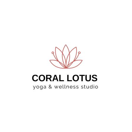 Spa Center Ad with Lotus Flower Logo – шаблон для дизайну