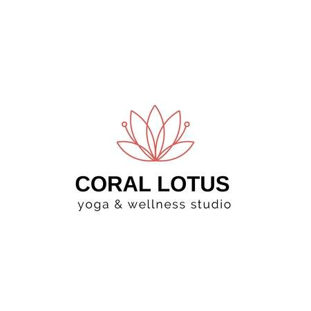 Plantilla de diseño de Spa Center Ad with Lotus Flower Logo