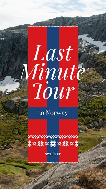 Last Minute Tour Scenic Mountains View Instagram Story – шаблон для дизайну