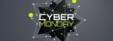 Cyber Monday Sale spiky digital sphere