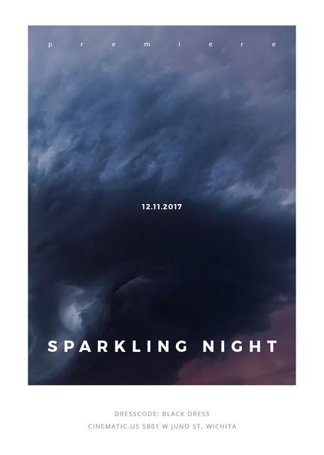 Plantilla de diseño de Party Invitation with Stormy Cloudy Sky Invitation