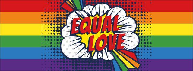 LGBT pride poster Facebook cover Design Template