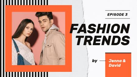 Plantilla de diseño de Fashion Ad Couple in Casual Clothes Youtube Thumbnail
