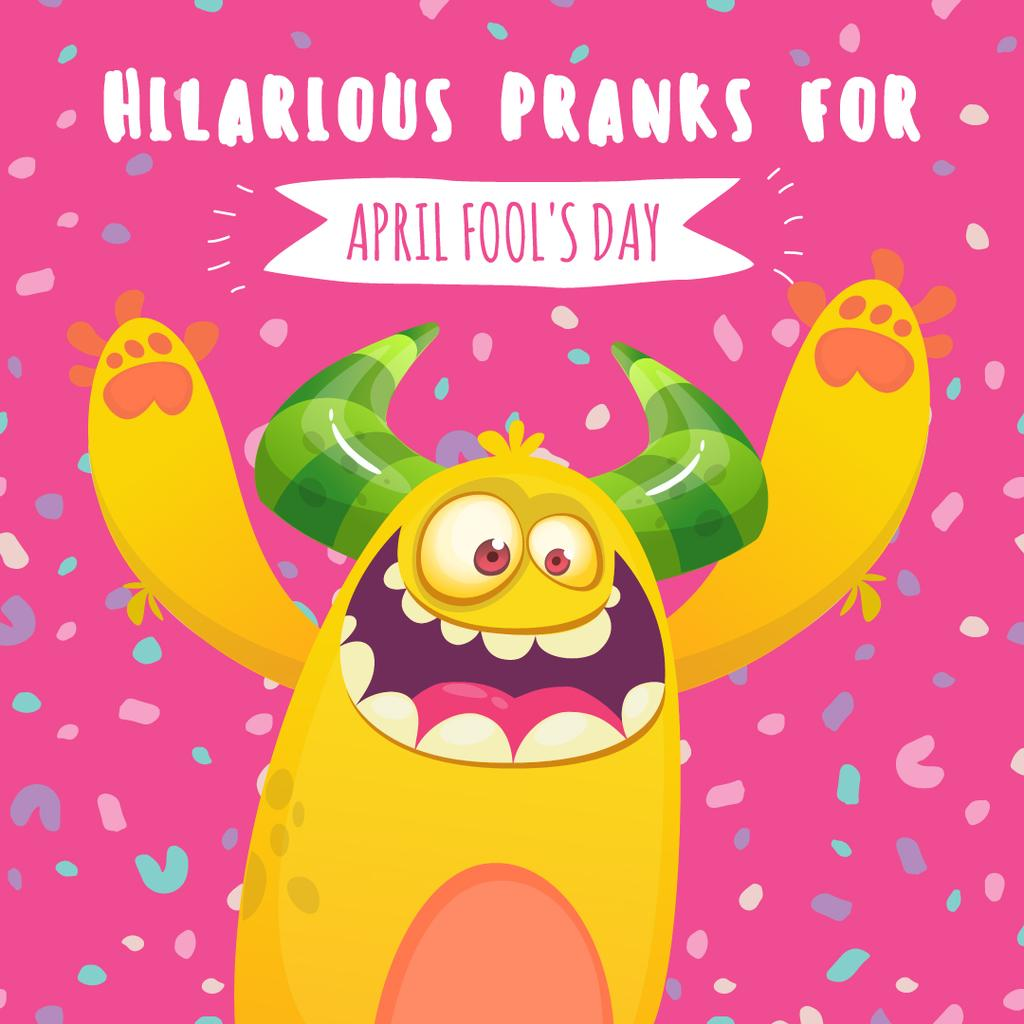 April fool's day monster — Create a Design