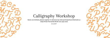 Plantilla de diseño de Calligraphy Workshop Announcement Letters on White Tumblr
