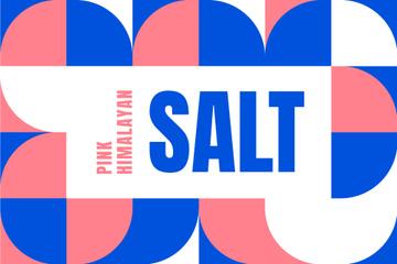 Food Salt company ad on colorful pattern