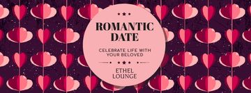 Romantic Date Inviting Card with Heart-shaped garland