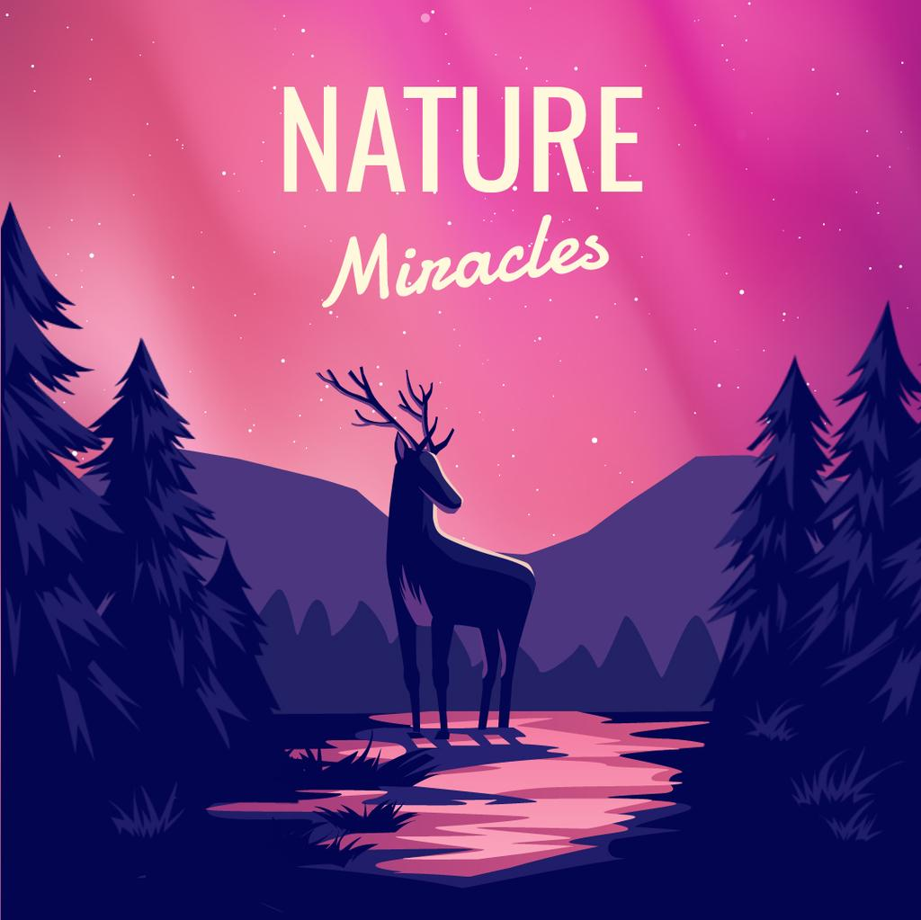Magical deer in forest — Create a Design