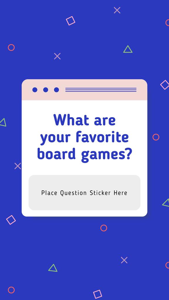 Favorite Board Games question on blue — ein Design erstellen
