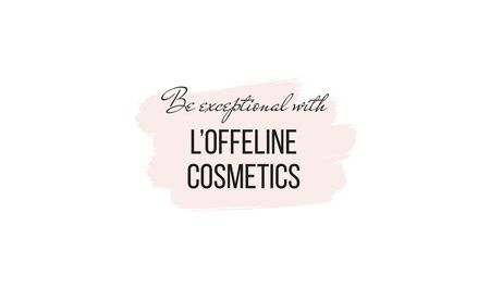 Ontwerpsjabloon van Business card van Cosmetics ad in pink