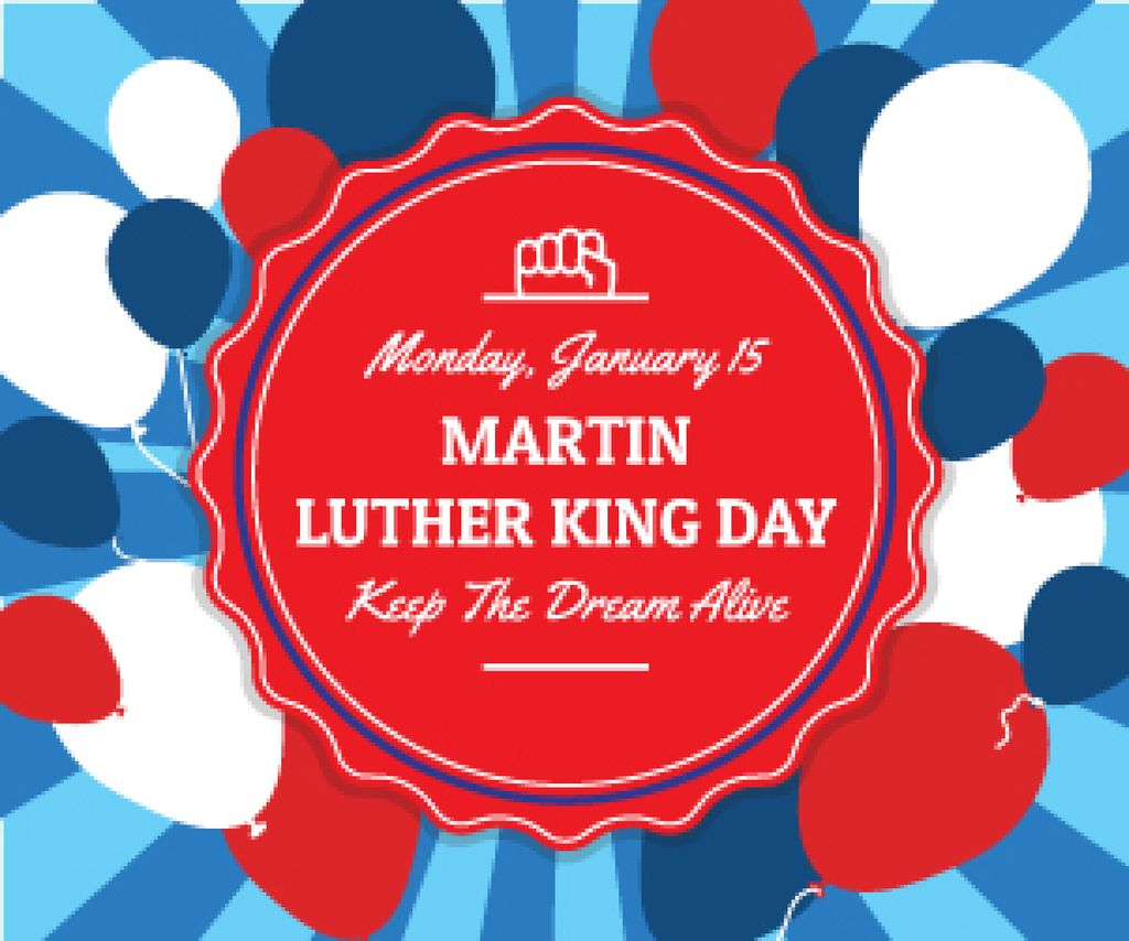 Martin Luther King day card — Створити дизайн