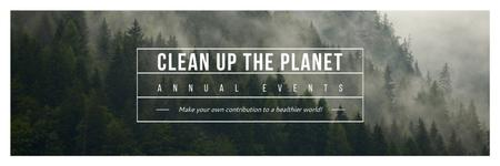 Template di design Ecological Event Announcement Foggy Forest View Twitter