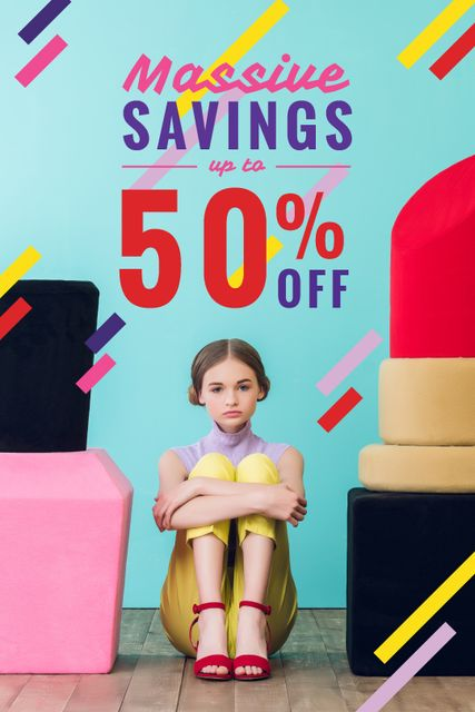 Plantilla de diseño de Beauty Sale Girl by Giant Cosmetics Tumblr