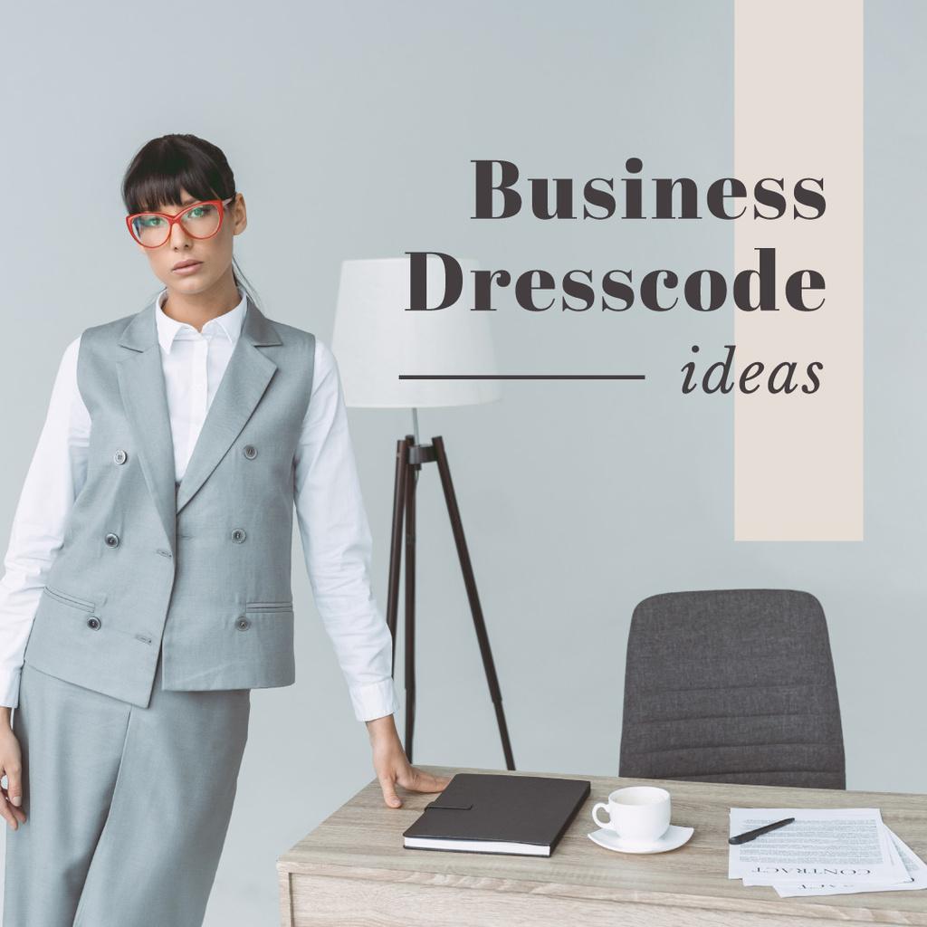 Modèle de visuel Business dresscode ideas - Instagram
