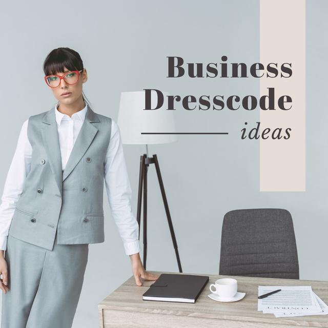 Business dresscode ideas Instagram Design Template