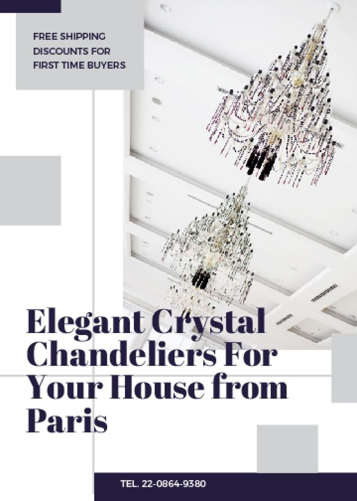 Elegant crystal Chandeliers offer — Crear un diseño
