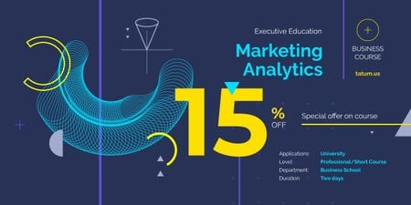Analytics Metrics Futuristic Icons in Blue Image Tasarım Şablonu