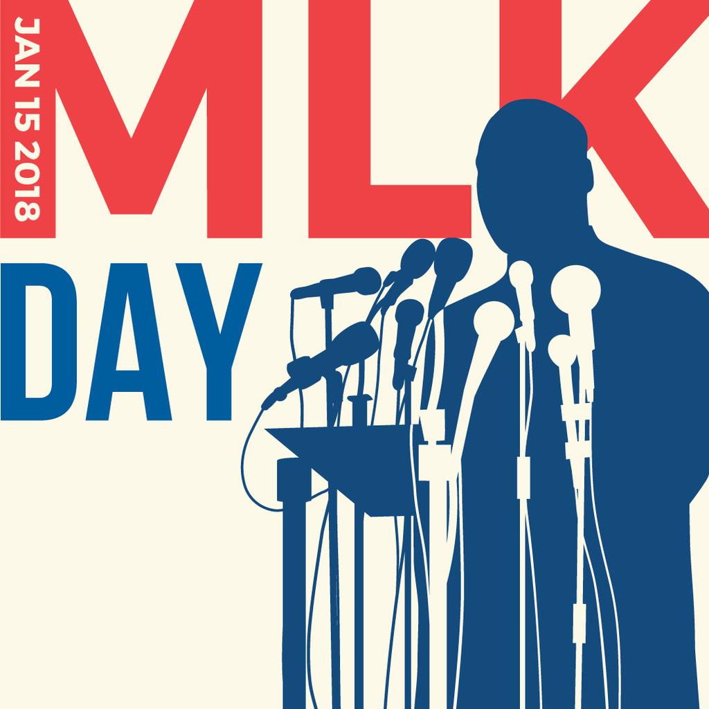 Martin Luther King Day Greeting with silhouette — ein Design erstellen