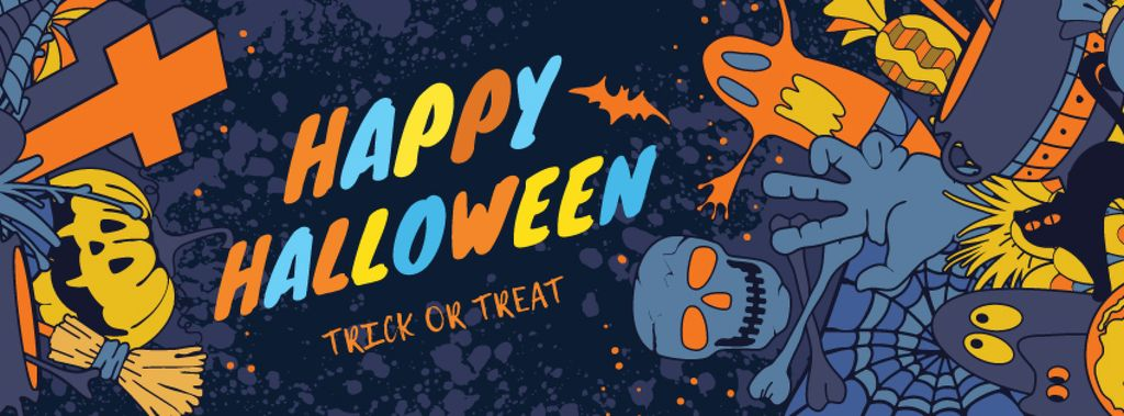 Happy Halloween greeting card — Crear un diseño