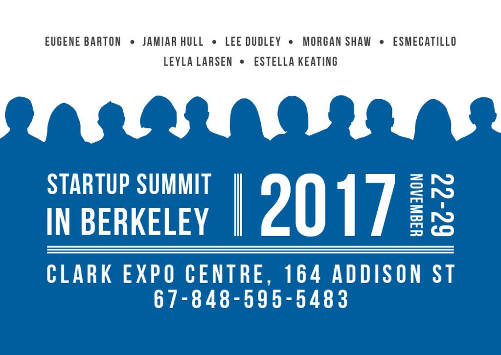 Startup Summit Announcement Businesspeople Silhouettes — Maak een ontwerp