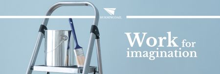 Designvorlage Tools for Home Renovation in Blue für Email header