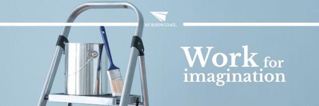 Tools for Home Renovation in Blue Email header – шаблон для дизайна